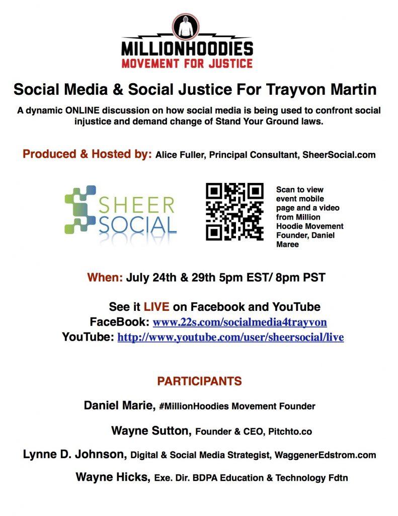 Social Media & Social Justice For Trayvon Martin Flyer