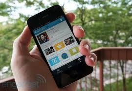 Foursquare on smartphone